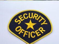 PATCH SECURITY OFFICER SICUREZZA VIGILANZA GUARDIA TOPPA RICAMATA