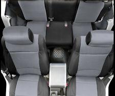 2007-2012 Jeep Wrangler 2 Door Neoprene Front & Rear Seat Covers Black & Gray