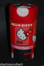 Hello Kitty, Polkadot Kitty, Fleece Throw Blanket, NEW