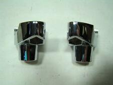 "chrome risers Harley Indian handlebars FXR Dyna Softail FXD Sportster XL FX 1.5"""