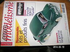 Auto Modelisme n°14 Porsche 908-02 Flunder Vanguards Abarth 695 SS 2CV CASS AUT0