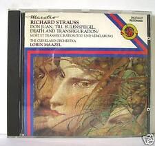 R.STRAUSS DON JUAN - TILL - DEATH - MAAZEL  CD
