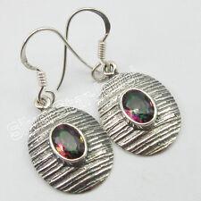 """925 Stamp STERLING SILVER MYSTIC TOPAZ Pierced Earrings 1.3"""" ! Women's Jewelry"""