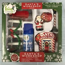 Christmas Fairy Garden Kit Santas Workshop 9 Pieces Snow in a Can New