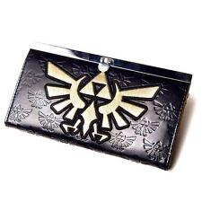 OFFICIAL NINTENDO ZELDA LOGO CLUTCH PURSE WALLET - Embossed Gold Triforce