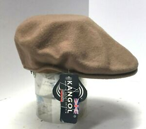 KANGOL 502 Tan 100% Wool Newsboy Cap SIZE S/M NEW WITH TAG MADE IN BRITIAN
