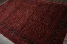 """6'5"""" x 9'8"""" Hand Knotted 100% Wool Tribal Oriental Area Rug Traditional Burgundy"""