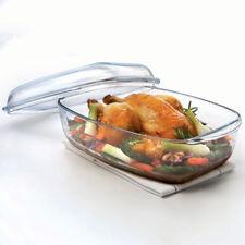 40685 Pyrex Essentials Glasbräter Auflaufform Backform mit Deckel 4,6 L