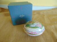 "Lenox Easter 1992 Victorian Egg ""Easter Enchantment""  Limited Edition Lamb dove"