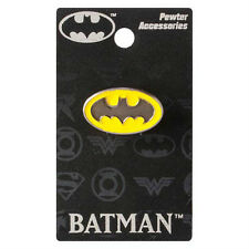 """BATMAN """"COLORED LOGO"""" Pewter Lapel pin DC Comics NEW in PACKAGE"""