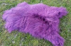 Real Premium Iceland Sheepskin Lambskin Fur Top Purple ca.39 3/8-43 5/16in