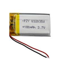 3.7V 180mAh Batería de polímero Li Lipo Para Mp4 Player GPS Coche Cámara Grabadora de video digital de bobina de voz dual 032035