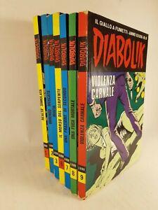 Diabolik XXXIII numeri 1-2-3-6-7-8-9