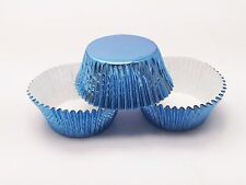 48 Sky Blue Foil Cupcake Liners Standard Size Baking Cups Light Blue