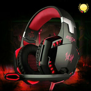 3.5mm Gaming Headset MIC LED Headphones for PC Laptop PS4 PS5 Pro Xbox One 360