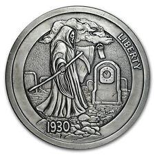 5 oz Silver Antique Hobo Nickel (Graveyard Shift)