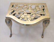 A Large Vintage Brass Trivet - Bird Design - c1900