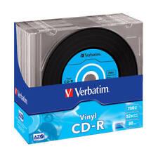 CD-R 52x 700MB Verbatim AZO Vinyl Caja Slim pack 10 uds