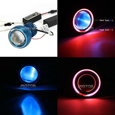 LED Projector Headlight Red Angel Blue Demon Eye for Suzuki GSXR 600 750 1000