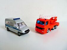 Siku 2 trucks mercedes 0804 0805 sprinter polizei 1015 1019 atego fire truck