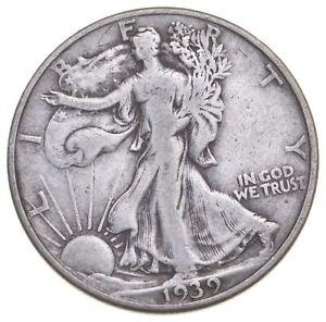 1939-D Walking Liberty 90% Silver US Half Dollar *806