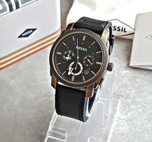 Fossil Herrenuhr Uhr Armbanduhr Chronograph Edelstahl Machine FS4657