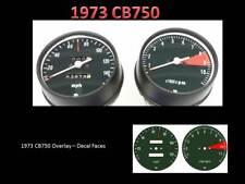 Honda CB750 750 Overlay Cafe Racer Gauge Face Decal Applique MPH Dial Clock K2