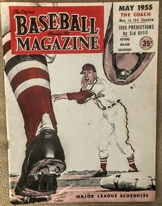 VINTAGE May 1955 Baseball Magazine, Schedules and 1955 predictions