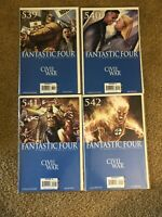 FANTASTIC FOUR Lot 539 540 541 542 Civil War J Michael Straczynski VF