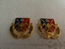 MILITARY INSIGNIA CREST DUI SET OF 2 UNSURE SERVICE ALL WAYS