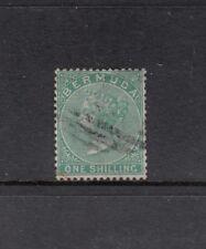 BERMUDA: 1865-1903 QV Wmk Crown/CC 1/- Green SG 8 £70, fine used