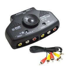 Bonayuanda 2-Way 2 Input 1 Output Audio Video AV RCA Switcher Switch Selector Sp