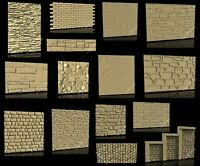 15 Pcs STL 3D Models BRICKS & STONES Textures for CNC Router 3D Printer Engraver