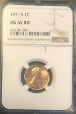 1974 S 1c Lincoln Penny NGC MS 65 RD