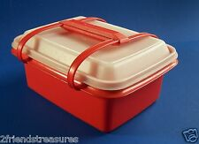 Tupperware Pack N Carry Lunch Box with Handle Sandwiches Storage for Crafts