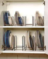 Cabinet Dish Rack Space Saver Metal Organizer Rack For Dishes or Containers Lids