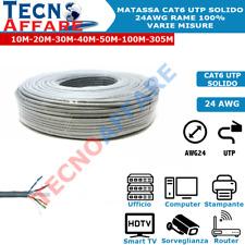 Matassa Lan Ethernet CAT6 UTP 24AWG Cavo di Rete 100% Rame Varie Misure