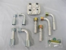 Aluminum 4 Port Air Conditioning AC Heater Hose Firewall Bulkhead w Fitting Kit
