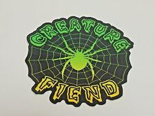 "Creature, Skate Board Sticker, Fiend, Spider Web, Black Widow, 4-1/2"" Diameter"