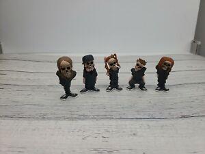 Korn Deadmen Mini Action Figure Set Of 5 Ozzy Iron Maiden Metal Stronghold