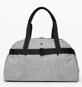 NEW lululemon Women's Out Of Range Duffel 33L Bag Heathered Black NWT with Tags