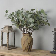 Simulation Fake Leaf Eucalyptus Green Silk Flowers Plant Wedding Xmas Home Decor
