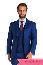 2018 Groom Tuxedos Best Man Suit Roral Blue Groomsman Men's Wedding/Prom Suits