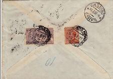 POSTA PNEUMATICA 15 su 20c(10)+60c MICHETTI-Busta x Cassino 18.7.1927