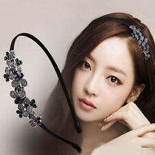 Women Lady Fashion Rhinestone Head Jewelry Headband Head Piece Hair Band
