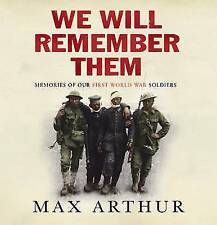We Will Remember Them: Voices from the Aftermath of the Great War - Audio CD