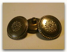 LOT 4 BOUTONS Beau Décor vieil Or * 20 / 21 mm 2,05 cm  pied gold button