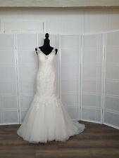 bridal gown size 12 color ivory over light gold designer Maggie Sottero