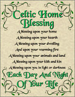 Celtic Home Blessing Poster Pagan New Age Goth Spirit Soul Magic Prayer House