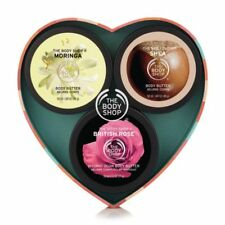 Gift Trio Body Butter body shop british rose, moringa, shea each 50 ml pack new